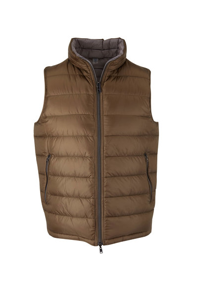 Herno - Green & Light Gray Reversible Puffer Vest