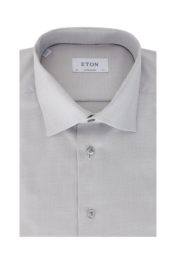 Eton Silver Weave Contemporary Fit Dress Shirt