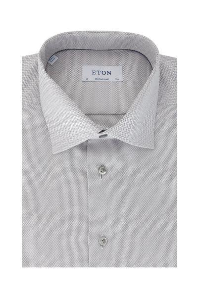 Eton - Silver Weave Contemporary Fit Dress Shirt