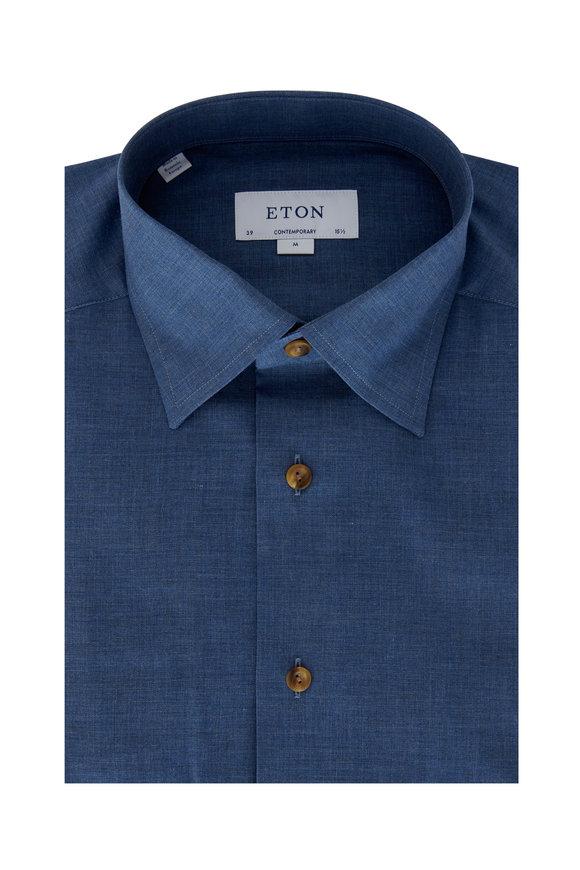 Eton Light Chambray Contemporary Fit Dress Shirt