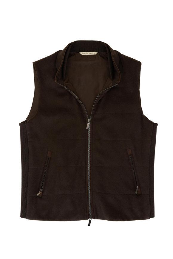 Maurizio Baldassari Dark Brown Cashmere Vest