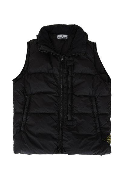 Stone Island - Black Garment Dyed Down Puffer Vest