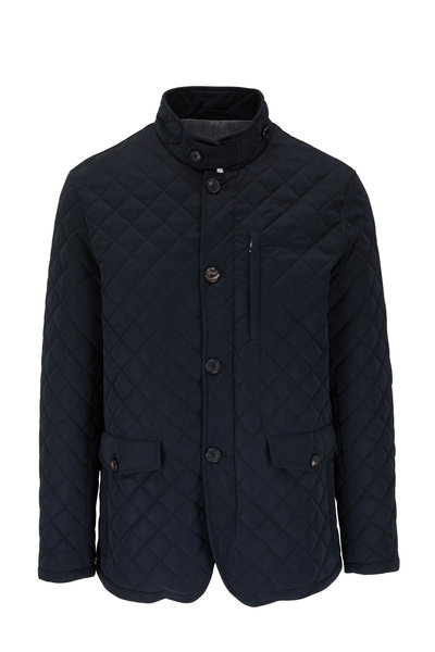 Manto - Black Diamond Quilted Jacket