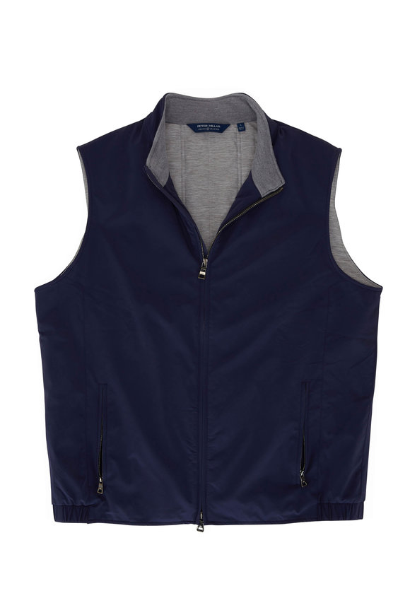Peter Millar Stealth Navy Crown Crafted Front Zip Vest