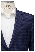 Samuelsohn - Navy Blue Check Wool, Silk & Linen Sportcoat