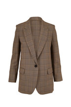 Nili Lotan - Diane Gray Plaid Single Button Blazer