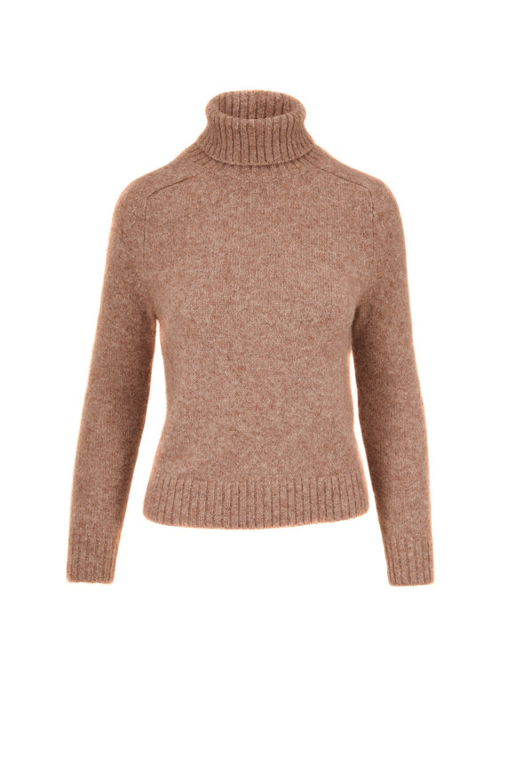 Nili Lotan Atwood Pecan Turtleneck Sweater