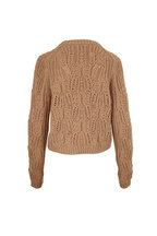 Vince - Sawdust Variegated Cable Knit Crewneck Sweater