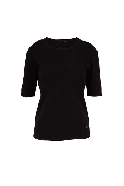 Escada - Seares Black Short Sleeve Knit Top