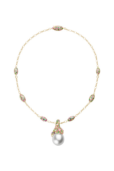 Mikimoto - Four Season Gold Spring Pearl Gemstone Necklace