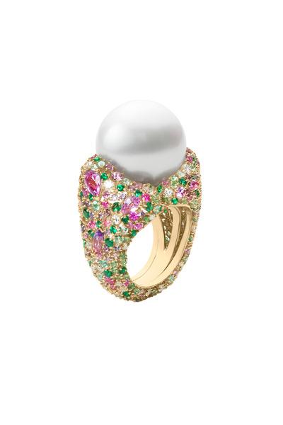 Mikimoto - Four Season Gold Spring Pearl & Gemstone Ring