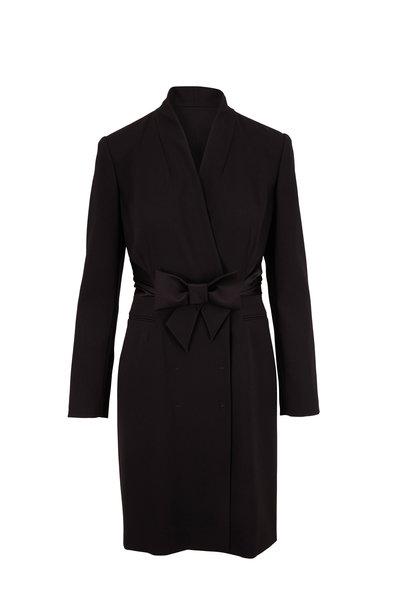 Paule Ka - Black Long Sleeve Tuxedo Dress