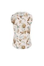Oscar de la Renta - Multicolor Floral Print Shell