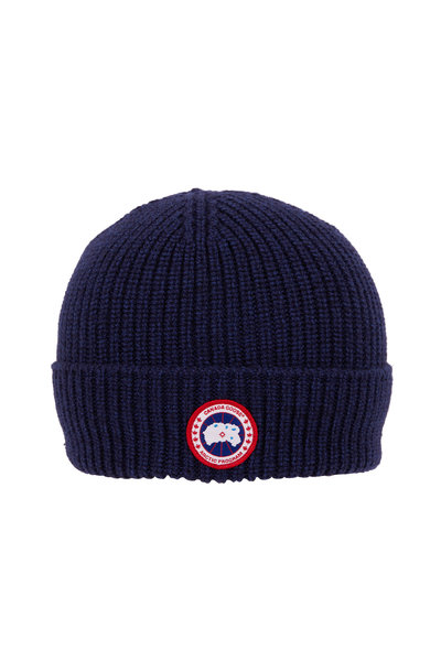 Canada Goose - Arctic Navy Wool Disc Rib Beanie