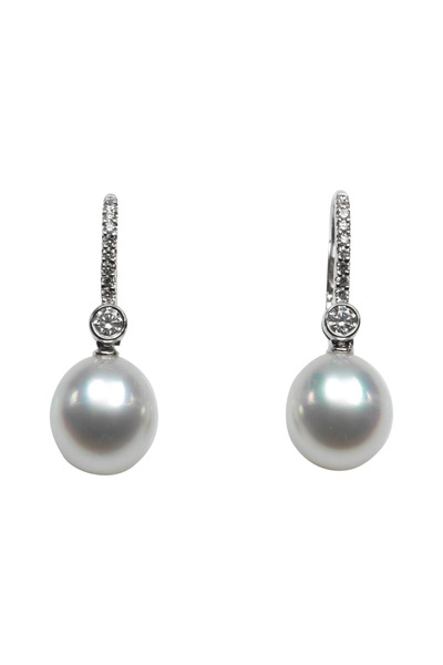 Assael - 18K White Gold South Sea Pearl & Diamond Earrings