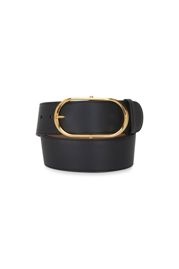 Dolce & Gabbana Nero Leather Gold Buckle Belt