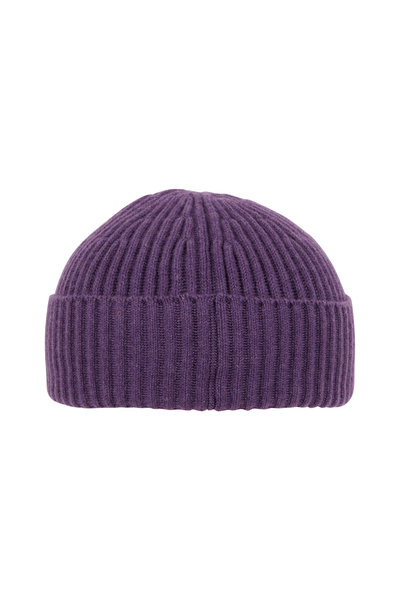 Brunello Cucinelli - Purple Ribbed Cashmere Beanie