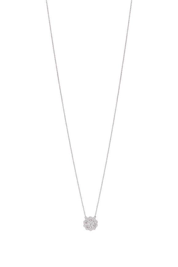 Cairo 18K White  Gold Diamond Pendant Necklace