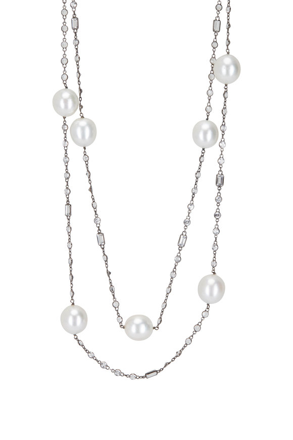Cairo 18K Black Gold South Sea Pearl Necklace