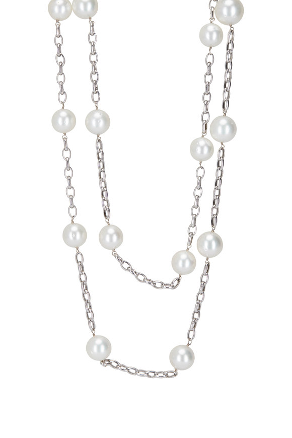 Cairo 14K White Gold South Sea Pearl Necklace