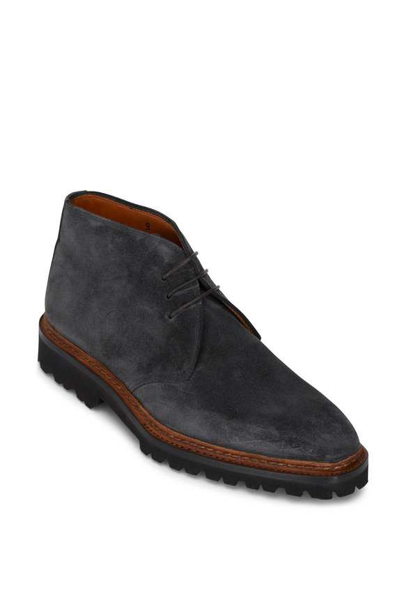 Bontoni Granite Suede Lug Sole Low Boot
