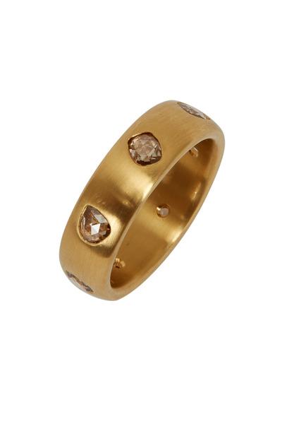 Caroline Ellen - 20K Yellow Gold Champagne Diamond Ring