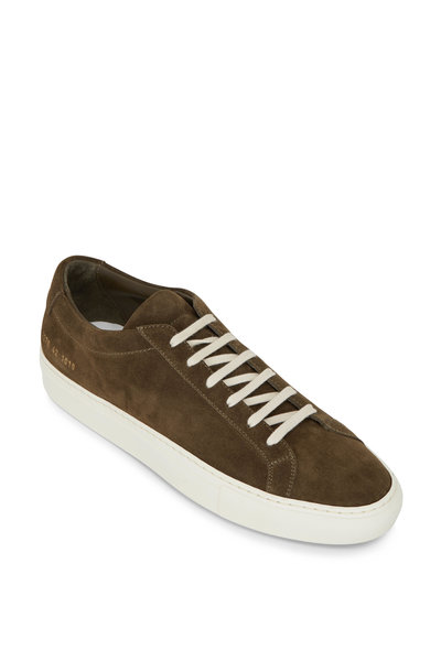 Common Projects - Achilles Olive Suede Low Top Sneaker