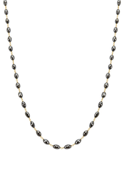 Caroline Ellen - Yellow Gold Black Diamond Necklace