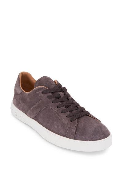 Tod's - Casetta Gray Nubuck Sneakers