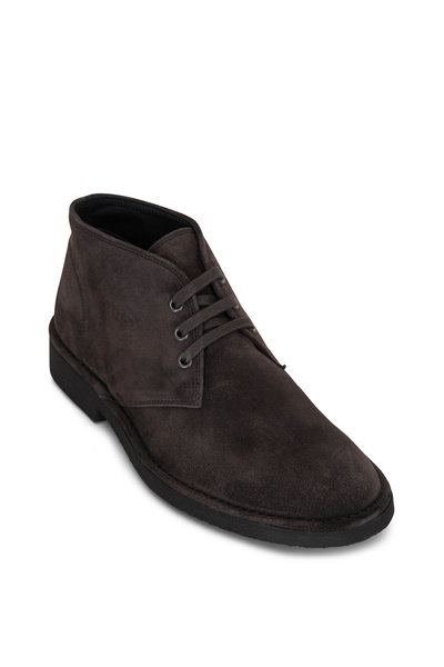 Vince - Sterling Graphite Suede Lace Up Chukka Boot