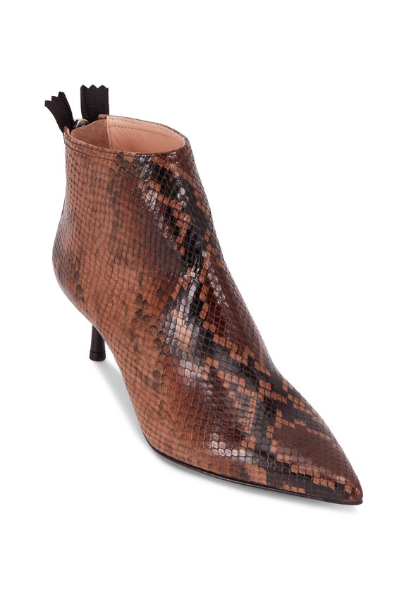 AGL Brenda Snake Pointed Bootie, 50mm