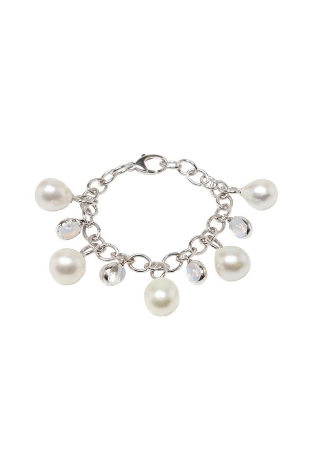 South Sea Pearl White Gold Moonstone Bracelet
