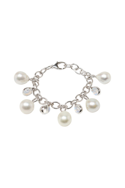 Assael - South Sea Pearl White Gold Moonstone Bracelet
