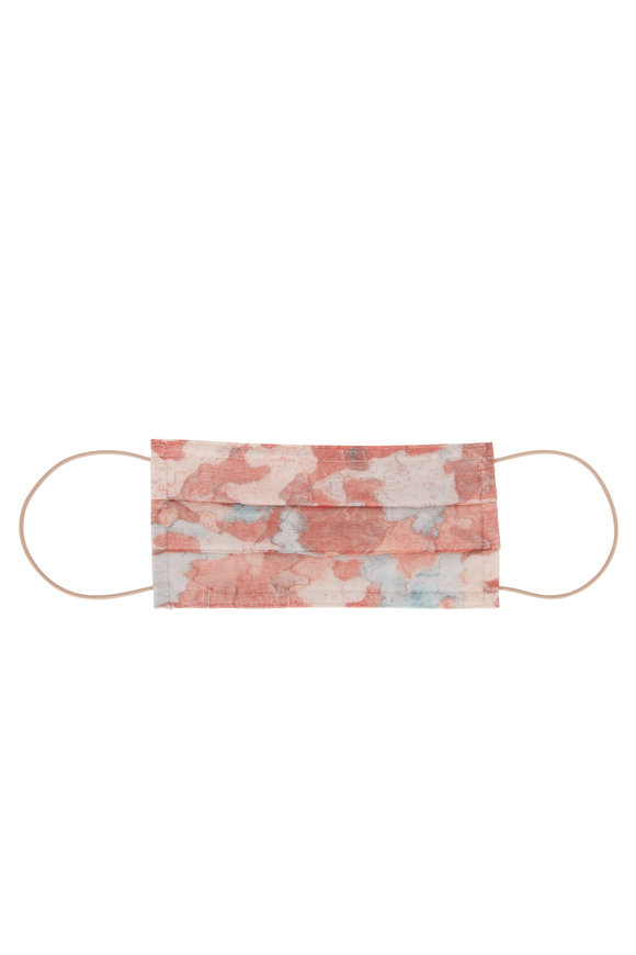 Faliero Sarti Pink Forever Military Print Face Mask