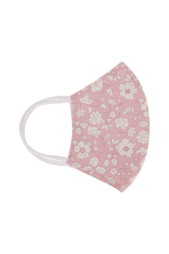 Faliero Sarti Think Positive Pink Embroidered Flowers Face Mask