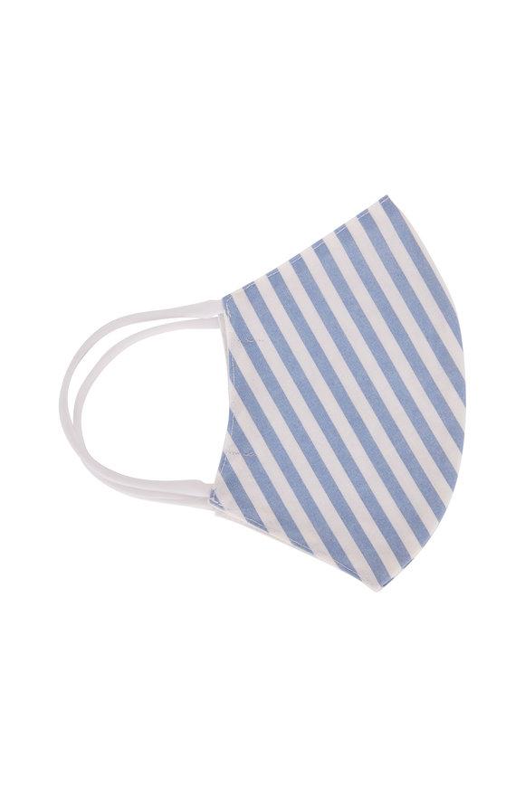 Faliero Sarti Think Positive Blue & White Stripe Face Mask