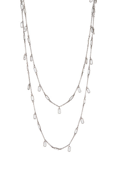 Loriann - Sterling Silver Crystal Dangle Accessory Chain