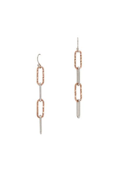 Loriann - Gold & Silver Paperclip Dangle Earrings