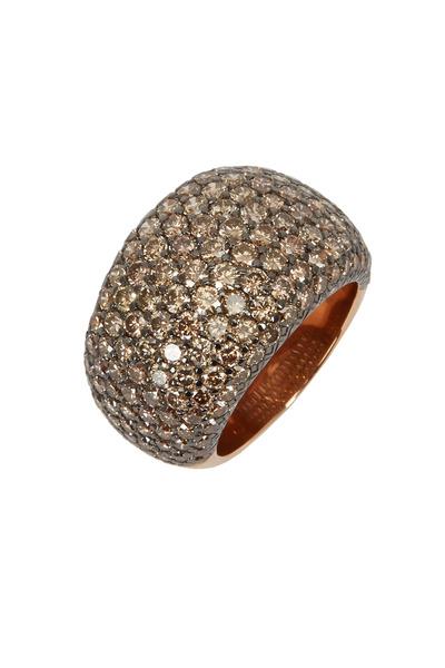 Eclat - Pink Gold Brown Diamond Ring