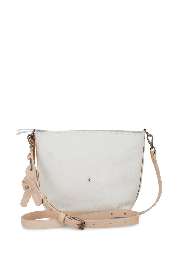 Henry Beguelin Cuoio Margherita White Leather Crossbody