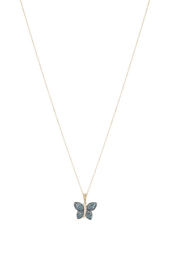 Loriann 18K Yellow Gold Butterfly Necklace