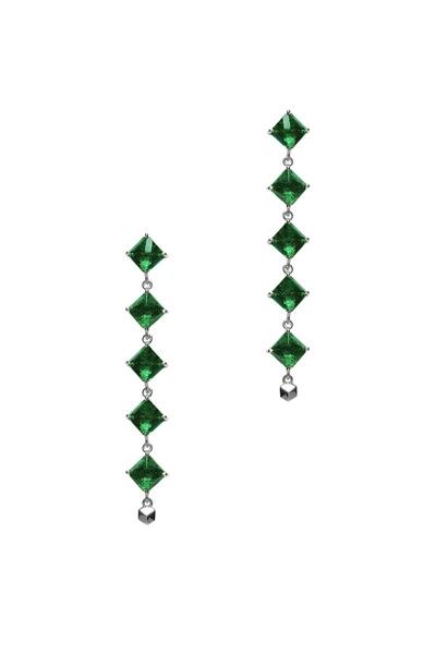 Paolo Costagli - Gold Green Tourmaline Diamond Dangle Earrings