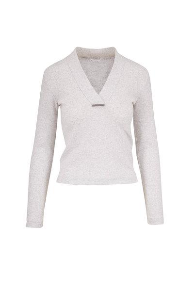 Brunello Cucinelli - Stracciatella Stretch Cotton Cropped T-Shirt