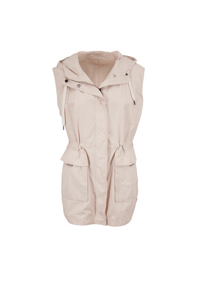 Brunello Cucinelli - Oat Taffeta Hooded Vest