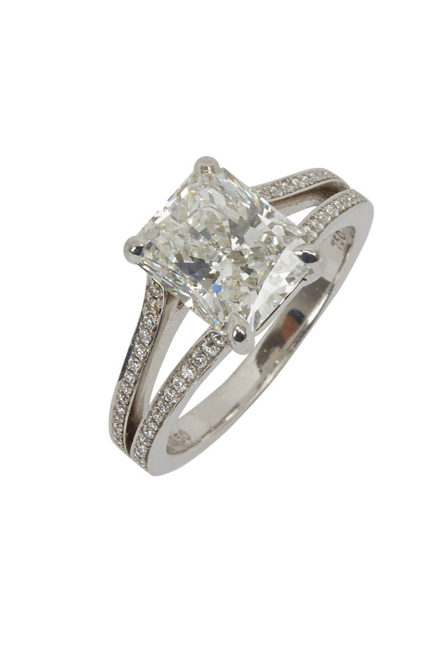 Radiant White Diamond Ring
