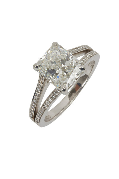 Louis Newman - Radiant White Diamond Ring