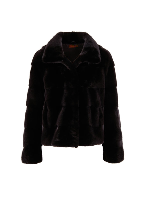 Viktoria Stass Black Mink Coat