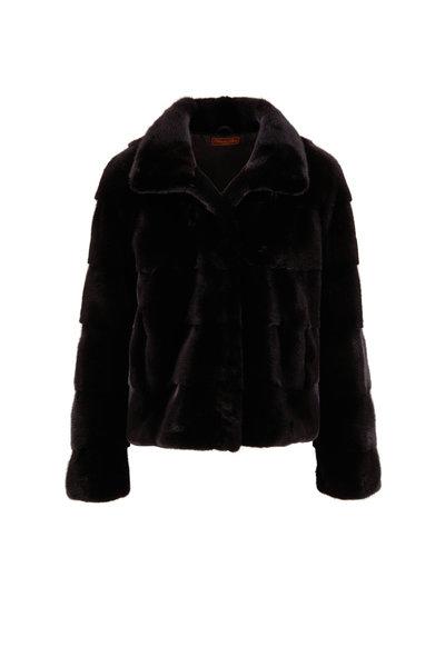 Viktoria Stass - Black Mink Coat
