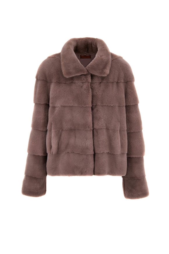Viktoria Stass Gray Mink Jacket