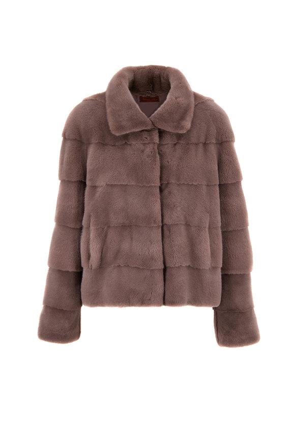 Viktoria Stass Gray Mink Jacket